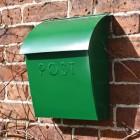 Contemporary Post Box finished in an Emerald Green