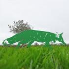 Iron Silhouette Fox in Green