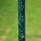 Green Polyurethane Coated Garden Lamp Post Made from Cast Iron