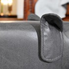 View of the Grey Finish on the Elephant Leather Stool