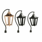 Black Swan Neck Pillar Light and Lantern Set 96cm