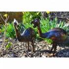 """Percy & Penny Pecker"" Guinea Fowl Garden Sculpture"