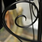 Black Hallway Butler Hat & Coat Stand Scrolled Detail