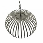 Half Basket Nickel Hanging Light