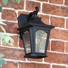 """Traditional Standard Black """"Dover"""" Wall Lantern Finished in Black"""