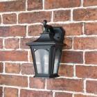 Small Black Wall Lantern in Situ