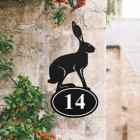 Hare House Number Sign Created Out of Iron