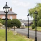 Driveway lighting, black 2.2m Harrogate lamp post sets