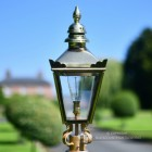 Harrogate Polished Brass Lamp Post Lantern