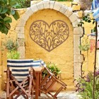 Flower Foliage Heart Wall Art Outside