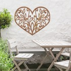 Flower Foliage Heart Wall Art in Situ