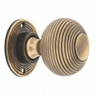 Heavy Duty Antique Brass Beehive Door Knobs