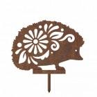 Rustic Silhouette of Floral Hedgehog