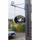 """Double sided Cast Iron Effect Hanging """"Hedgehog"""" House Name Sign"""