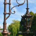 Hexagonal Antique Copper Luminaire