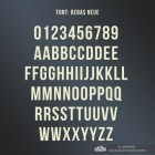 All Letters and Numbers in the Bebas Neue Font