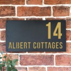 """Albert"" House Sign Finished in a Sand Yellow"