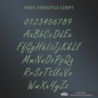 All Letters and Numbers in the Freestyle Script Font