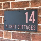 """Albert"" House Sign Finished in Light Pink"