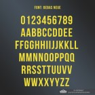 All Letters and Numbers in the Bebas Neue Script Font