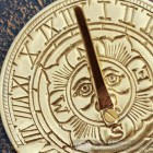 Close-up of the Sun Design on the Sundial