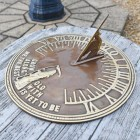 Old Father Time Sundial in Antique Brass finish