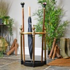 Antique style Half Moon Umbrella and walking stick stand