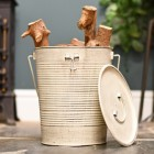Cream bucket with removable lid