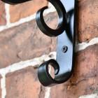 Close up of wall mounted bracket