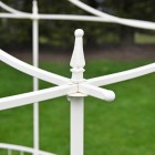 Close up of finial on framework