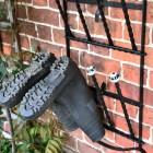Close up of 6 pair boot rack