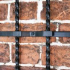 Close up of boot rack folded with safety latch