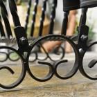 Twist and scroll wrought iron detail
