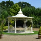 pavilion in landscape manor garden