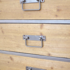 Close-up of the Handles on the Cabinet Drawers