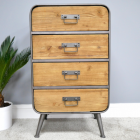 Industrial Four Drawer Cabinet in Situ