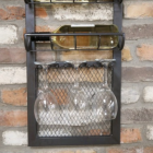 Close-up of the Wine Bottles and Wine Glasses In situ on the Wine Rack