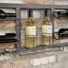 Close-up of the Wine Bottles Sitting on the Wine Rack