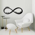 Personalised Infinity Loop Wall Art