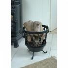 Cast Iron Circular Log Basket