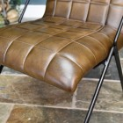 Dark Olive Green Buffalo Leather on the Chair