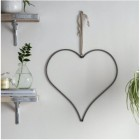 Heart Hanging Wall Art Created From Steel