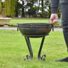 40cm Iron Kadai Fire Bowl to Scale