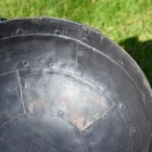 Close-up of the Hammered Iron Inside the Kadai Bowl
