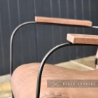 Wooden Arms on the side of the Chair