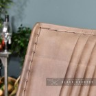 close-up of the Pillowed Natural Brown Buffalo Leather on the Back of the Relax Chair
