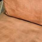 Brown Buffalo Leather on the Seat of the Chair