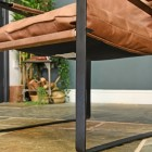 Close-up of the Black Iron Frame of the Chair