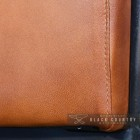 Buffalo Leather Finished in a Tan Brown