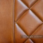 Close-up of the Tan Finish on the Leather Chair